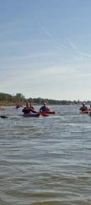 Abpaddeln auf dem Rhein