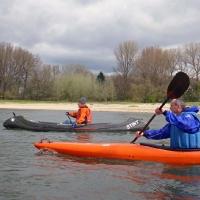 Anpaddeln auf dem Rhein