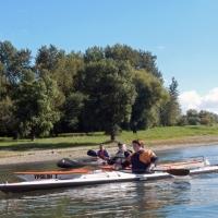 Abpaddeln auf dem Rhein 27.09.2015