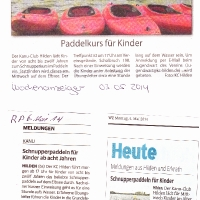 Schnupperpaddeln 07.05.2014
